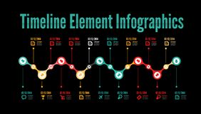 Timeline infographic Royalty Free Stock Images