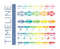 Timeline infographic Stock Photo