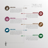 Timeline infographic with elements and icons. Vector Royalty Free Stock Images