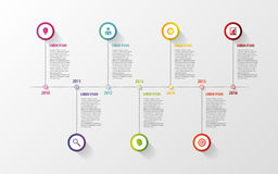 Timeline infographic elements. Vector with icons Stock Photography