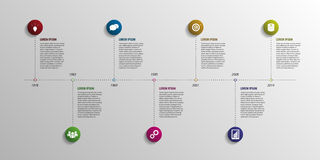 Timeline infographic elements. Vector with icons. Illustration Royalty Free Stock Photography