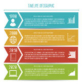 Timeline Infographic för vektorabstrakt begrepplägenhet Royaltyfri Foto