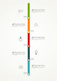 Timeline infographic Royalty Free Stock Photos