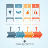 Timeline Infographic for four positions Stock Image