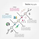 Timeline Infographic. With icons and diagrams. Vector design template Royalty Free Stock Image