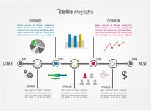 Timeline Infographic. With icons and diagrams. Vector design template Royalty Free Stock Photography