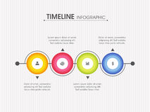 Timeline Infographic layout with web icons. Professional Timeline Infographic layout with web icons for your Business report and presentations Royalty Free Stock Image