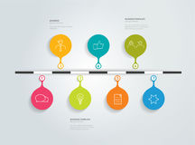 Timeline infographic. Stock Photography