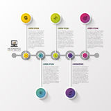Timeline infographic. Modern design template. Vector illustration Royalty Free Stock Photos