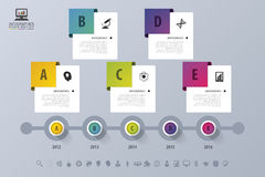 Timeline Infographic. Modern design template. Vector illustration Royalty Free Stock Photo