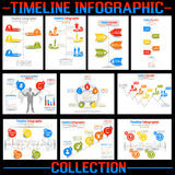 Timeline infographic new style. For web stock illustration