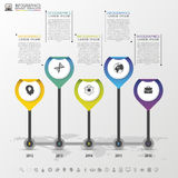Timeline Infographic with pointers. Modern design template. Vector illustration Stock Photos