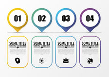 Timeline Infographic with pointers. Modern design template. Vector Stock Photography