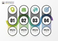 Timeline infographic with 4 steps. Modern design template. Vector Stock Images