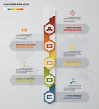 Timeline infographic 5 steps vector design template. Can be used for workflow processes, diagram, number options, timeline. EPS10 Royalty Free Illustration