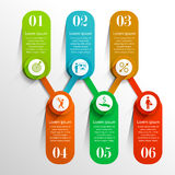 Timeline infographic template Royalty Free Stock Photos