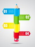 Timeline Infographic Template for Business Vector Royalty Free Stock Images