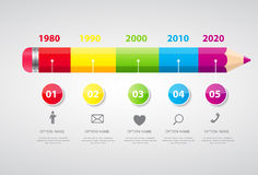 Timeline Infographic Template for Business Vector Royalty Free Stock Image