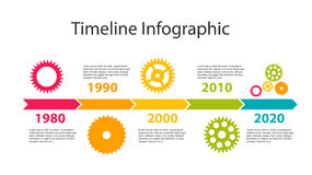Timeline Infographic Template for Business Vector Royalty Free Stock Photo