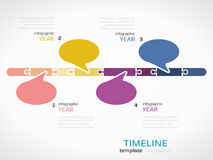 Timeline. Infographic template with colorful speech bubbles vector illustration