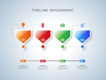 Timeline infographic template design. royalty free illustration
