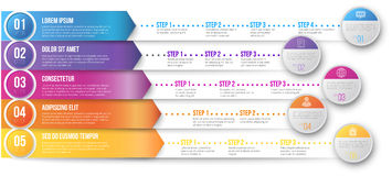 Timeline Infographic Template Stock Photo