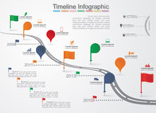 Timeline Infographic template with icons. Vector Royalty Free Stock Photos