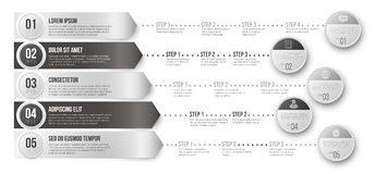 Timeline Infographic Template Stock Images