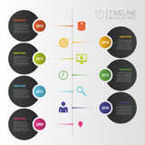 Timeline infographic template. Vector with icons. Illustration Royalty Free Stock Image