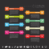 Timeline infographic template. Vector with icons. Illustration Royalty Free Stock Photo