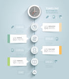 Timeline infographic template. Stock Photo