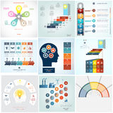 Timeline Infographic 9 templates five position Stock Image