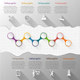 Timeline infographic with torn paper Stock Images