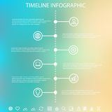 Timeline infographic with unfocused background Royalty Free Stock Images