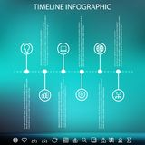 Timeline infographic with unfocused background Stock Photography