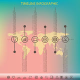 Timeline infographic with unfocused background Royalty Free Stock Photo