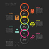 Timeline Infographic, Vector design template Royalty Free Stock Photography
