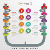 Timeline Infographic, Vector design template Royalty Free Stock Photos