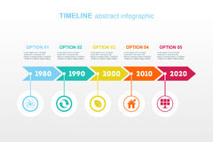 Timeline Infographic. Vector design template. Royalty Free Stock Photography