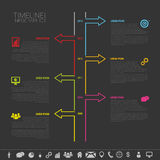 Timeline Infographic. Vector design template with icons. Illustration Royalty Free Stock Photos