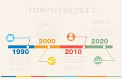Timeline Infographic. Vector design template. Stock Photography