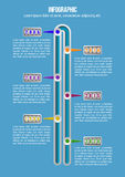 Timeline Infographic. Vector design template with years stock illustration