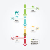 Timeline Infographic vector with icons design template. Stock Photo