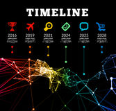 Timeline infographic vector illustration Stock Images