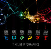 Timeline infographic vector illustration Royalty Free Stock Images