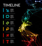 Timeline infographic vector illustration Stock Photo