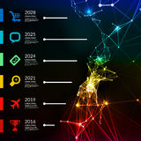 Timeline infographic vector illustration Stock Image