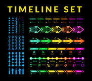 Timeline infographic vector set Stock Image