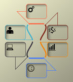 Timeline Infographic, Vector Template Illustration Royalty Free Stock Photography