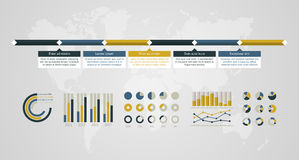 Timeline  infographic. World map Stock Photos